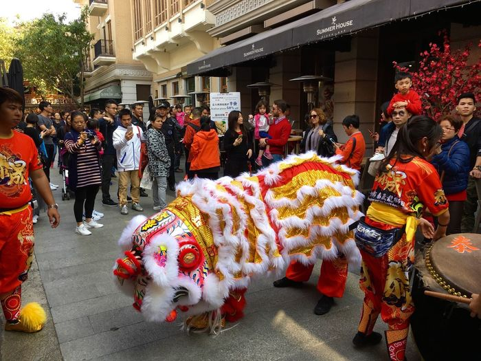 Foshan,China Chinese New Year Lion Dance Celebration Event Spring Festival Showcase: February Hanging Out IPhoneography IPhone 6s My Year My View