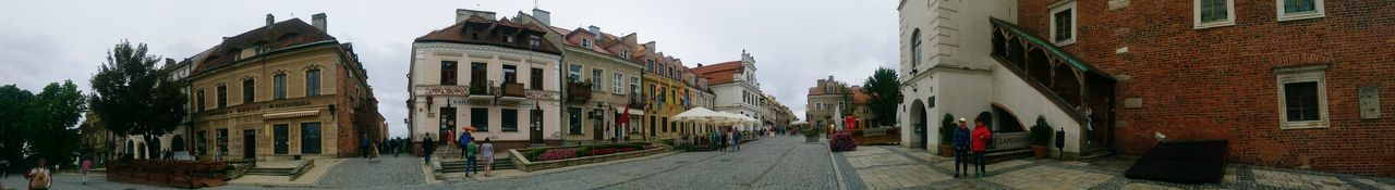 Panoramic View City Center Relaxing Buildingstyles Tenement Houses Htconem8