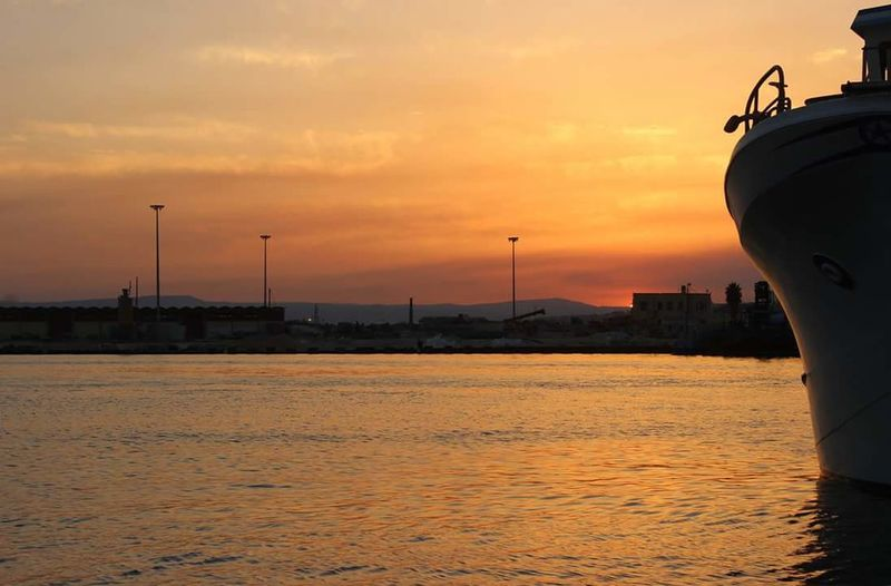 Sunset City Outdoors Sea Skyline No People Sky Water Sea And Sky Day Italia Sicilia Holiday Memories