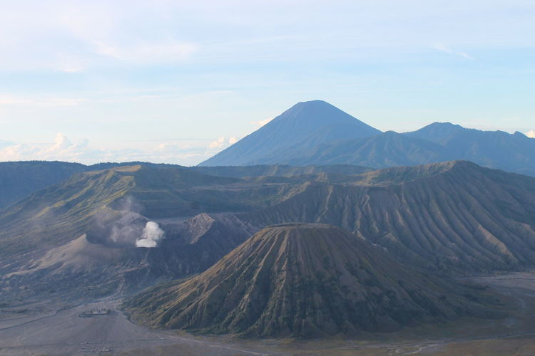 Mountain Volcanic Crater Volcanic Landscape Fog Volcano Sky Landscape Active Volcano Physical Geography Smog East Java Province Volcanic Activity Bromo-tengger-semeru National Park Geology EyeEmNewHere