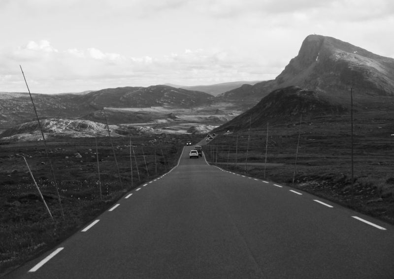 Beautiful Norway Beauty In Nature Landscape Moony Mountain Mountain Range Road Scenics The Way Forward Tranquil Scene Trecking