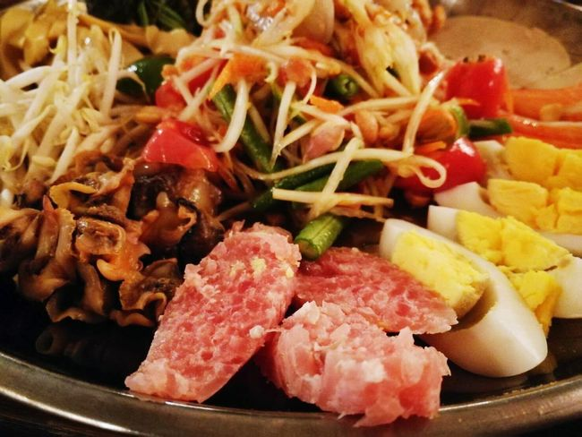 Food Food And Drink Meat Freshness Healthy Eating Plate Indoors  Ready-to-eat SLICE No People Close-up Day ตำถาด แหนม