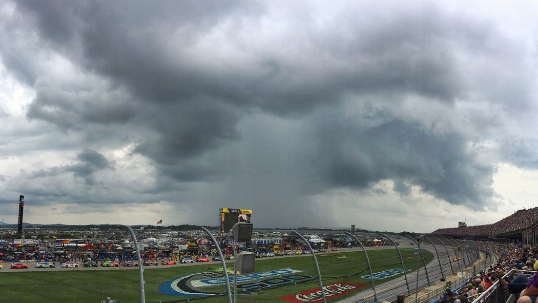Watching a thunderstorm move over the Talladega Superspeedway. Cloud - Sky Storm Cloud Motor Racing Track WeatherPro: Your Perfect Weather Shot Thunderstorm Storm Clouds