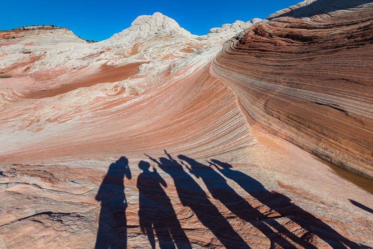 Shadow of rock on mountain