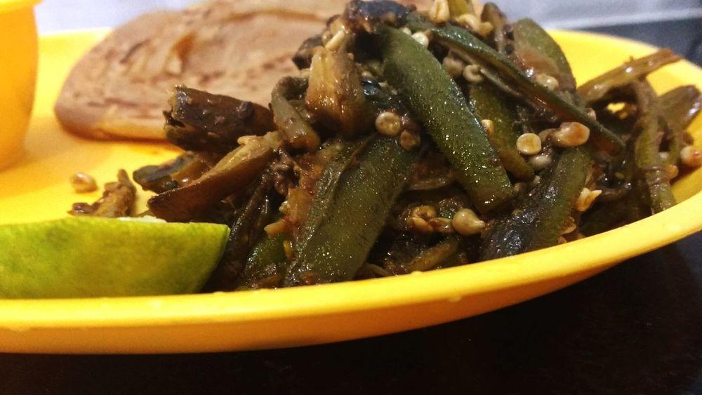 Ladyfinger Indian Food Indian Rajasthani Style Spicy Food MKP Cooking in you tube Food Lover Veg Food Spicy Food Oily Food