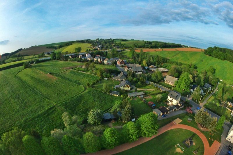 Landscape Agriculture Field Sky Architecture Aerial View Beauty In Nature Idyllic Cloud - Sky Wide Shot Growth Zschocken Drone  Dronepic Droneshot