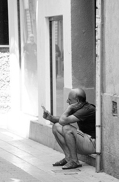 Old Man Valencia, Spain Thinking Travel Photography