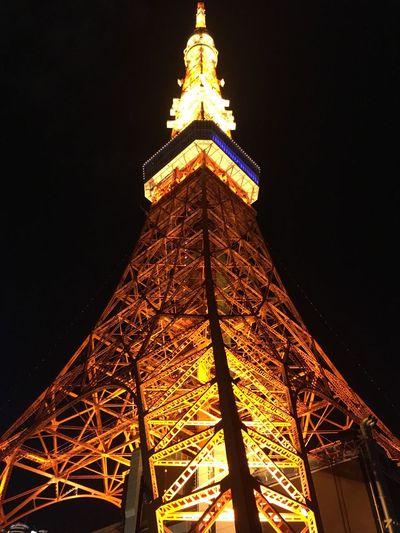 東京タワー✨ 高所恐怖症の自分にはキツかったです😅 Nice Views キラキラ Beautiful Light And Shadow EyeEm Best Shots EyeEm Gallery キラキラスポット Illumination Enjoying The View EyeEm Cityscapes Tokyonight Tokyo,Japan Tokyo Tower