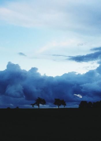 vor dem Sturm Sky Cloud - Sky Nature Beauty In Nature Landscape Silhouette Tranquility Tranquil Scene Scenics Tree Outdoors Day No People Mountain