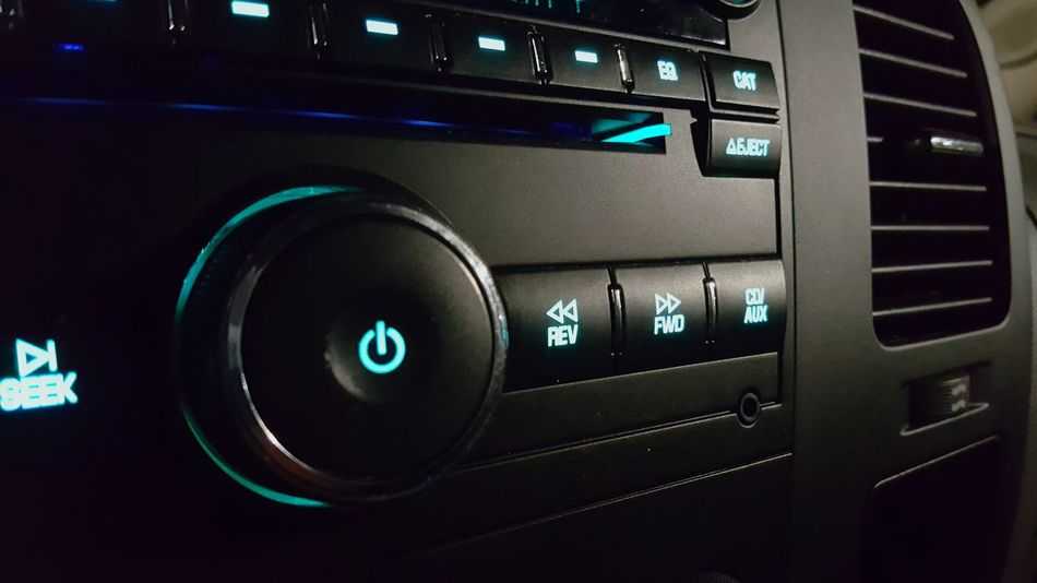 Technology Number Transportation Close-up Connection Push Button Modern Mode Of Transport Extreme Close-up Full Frame No People Radio Music Lines Lights Car Stereo Automobile Truck Chevrolet Silverado2013 Silverado
