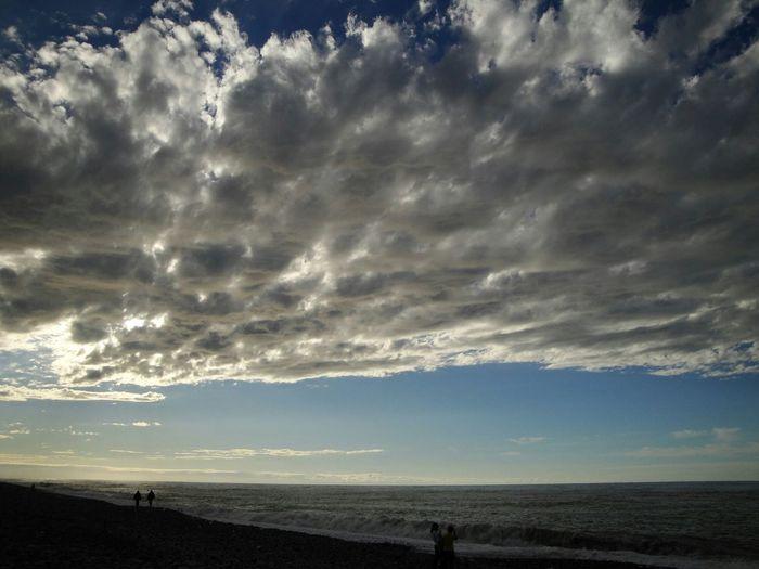 Sea Side Clouds And Sky