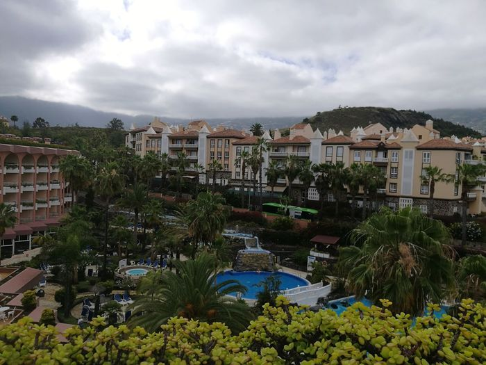 Hotel View Hotel Hotel View Pool Area Tenerife Canary Islands Travel Vacation Holiday Stay Morning Tree Cityscape City Storm Cloud Water Palm Tree Sky Architecture Cloud - Sky TOWNSCAPE Building Rooftop Town