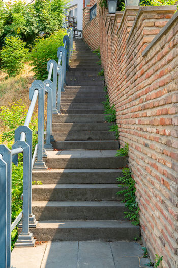 Staircase leading to built structure
