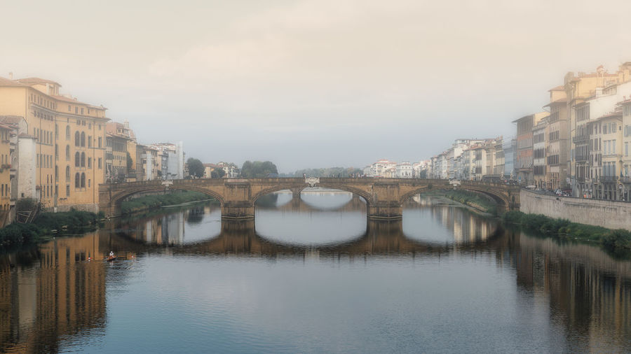 Reflections Architecture Arno  Bridge - Man Made Structure Building Exterior Built Structure City Cityscape Connection Day Firenze Florence History Italy Mirror Reflection Nature No People Outdoors Reflection River River Arno Sky Travel Destinations Tuscany Urban Skyline Water