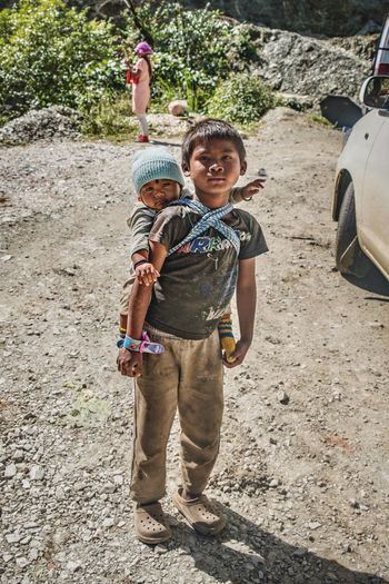 Baby Streetphotography Street Photography Street Tibetan  Tawang India Arunachal Pradesh Standing Boys Childhood Casual Clothing Two People Portrait Day Looking At Camera Smiling Real People Outdoors Happiness Togetherness Lifestyles Young Adult Human Body Part People Adult