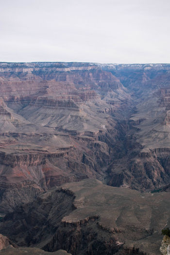 Arizona Grand Canyon Grand Canyon National Park America Arid Climate Beauty In Nature Day Desert Geology High Angle View Landscape Mountain Mountain Range Nature No People Outdoors Physical Geography Rock - Object Rough Scenics Sky Tranquil Scene Tranquility
