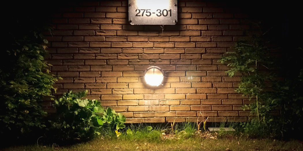 House lights Illuminated Moon Astronomy Clock Light Bulb Brick Wall Clock Face Electricity  Architecture Electric Light Creeper Plant Vignette Ivy Light Fixture Lighting Equipment Recessed Light Pendant Light