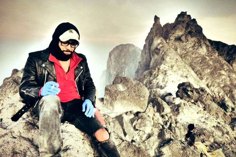 Picturing Individuality at the top of Mt.Merapi Volcano Indonesia 2968sml, sitting down on the edge of the crater to make me warm, it was so cold n windy .. Indonesia_photography That's Me EyeEm Indonesia Enjoying Life EyeEm Nature Lover Hanging Out Landscape Volcano Crater INDONESIA Showcase: November