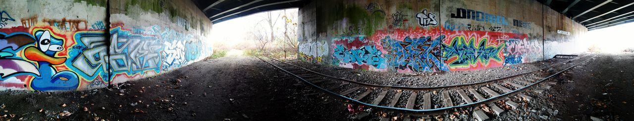 Graffiti Underground Art Under The Bridge Railroad Tracks Graffiti Art Graffiti Wall Graffitiporn Panoramic View Talent Self Expression Capturing Freedom Capturing The World Rapture?