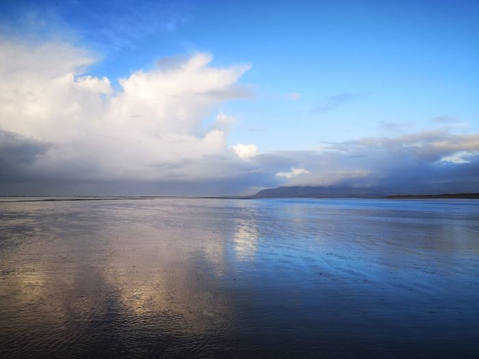 In the island Blue Blue Sky Cloud - Sky Reflection Reflections Walney Island EyeEm Gallery Eyemphotography Winter Wintertime Water Low Tide Sea Beach Blue Sunset Sand Sun Wet Idyllic Tide Coast Seascape Island Atmospheric Mood Wave