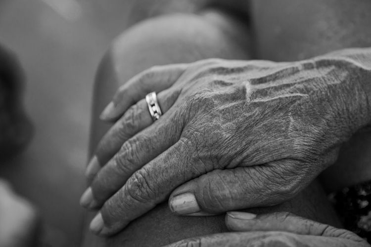 Hands This Is My Skin Adult Age B&w Black And White Body Part Hand Holding Hands Human Body Part Human Hand Love Positive Emotion Real People Responsibility Softness Texture Time Touching
