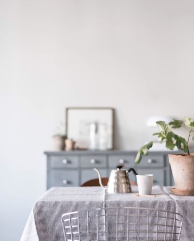 Indoors  Tablescene Flower Table Interior Interior Views interiordesign Scandinavianliving Lifestyle Photography Time For Breakfast  Coffee Coffee Break Chair Selective Focus Freshness Bunch Of Flowers Focus On Foreground Green Color No People Differential Focus Dramatic Angles