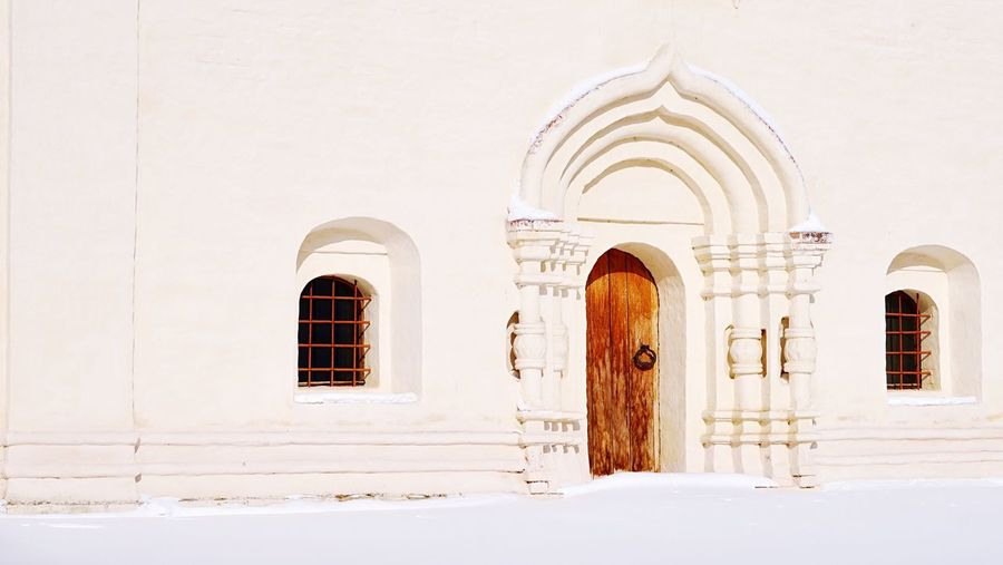 Monastery wall Wall EyeEm Selects Architecture Window Entrance History The Past Cold Temperature Snow Winter Door Religion