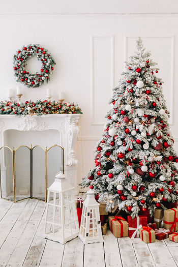 Christmas Celebration christmas tree Holiday Decoration Tree Christmas Decoration Holiday - Event Gift Indoors  Event Plant No People Celebration Event Christmas Ornament Nature White Color