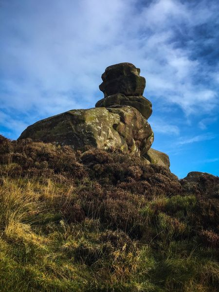 Peak District  Tranquility Nature Rock Formation Geology Sky Tranquil Scene Scenics Beauty In Nature Rock - Object Day Physical Geography Outdoors Travel Destinations Awe Cloud - Sky No People Low Angle View Landscape Grass