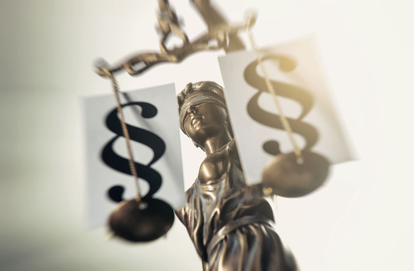 The Statue of justice with Paragraphs - Justitia the Roman goddess of Justice / lady justice or Iustitia Statue Blind Bronze Crime Jury Justitia Lady Justice Lawyer Legal System Sign Statue Of Liberty Balance Close Up Courthouse Courtroom Criminal Decision Equality Gavel Judicial Law Legislation Paragraph Roman Sculpture