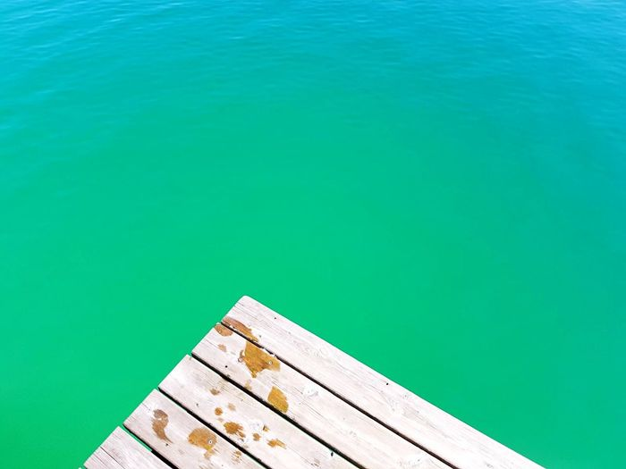Wasserkante Türkis Steg Holz Water High Angle View Day Blue Pier Nature No People Lake Green Color Wood - Material