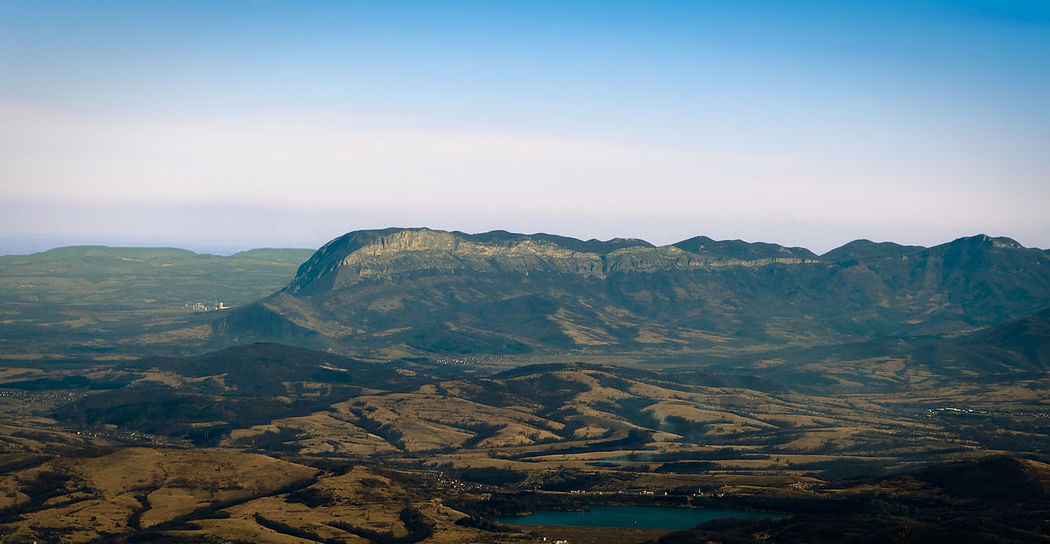 The Vratsa mountain range with Kotlya peak, NW Bulgaria Blue Haze Kotlia Kotlya Landscape Mountain Peak Range Rock Rocks Rocky Sky Vratsa Vratsa Balkan
