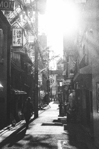 Day Sunlight City Outdoors Built Structure Building Exterior Men Architecture Tree People Adult Only Men Backstreets & Alleyways Backseat Backstreet Kyoto Japan Photography Black & White Kyoto City Black And White Streetphotography Japan Street Photography Street Streetphoto_bw