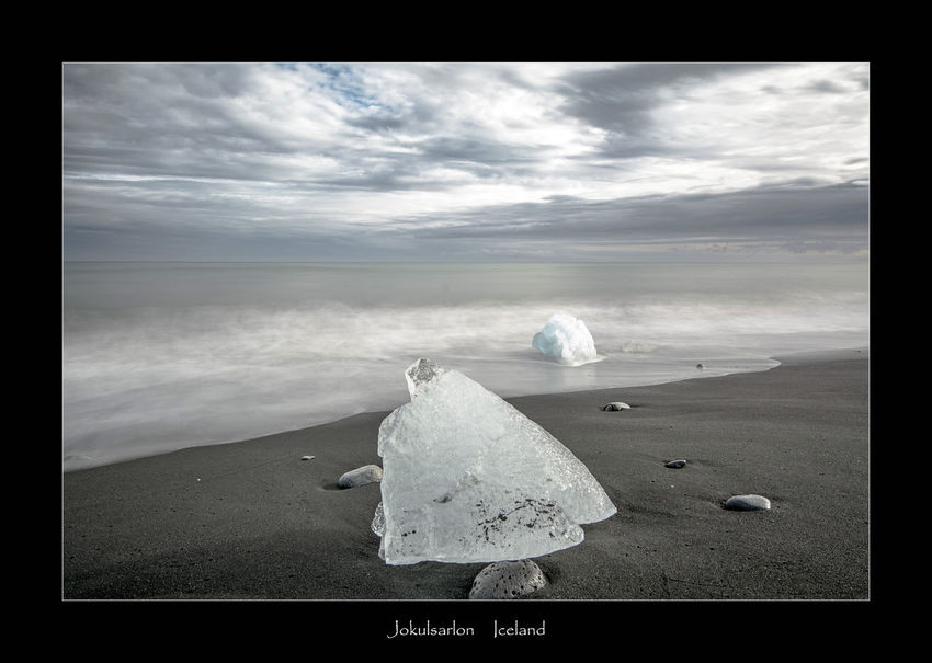 Jokulsarlon beach in South Iceland