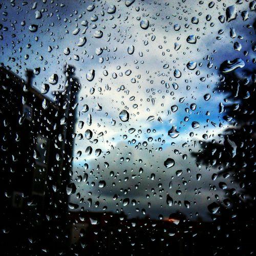 Raindrops Relaxing Rain Rainy Days Raindrops Window Sky Clouds First Eyeem Photo