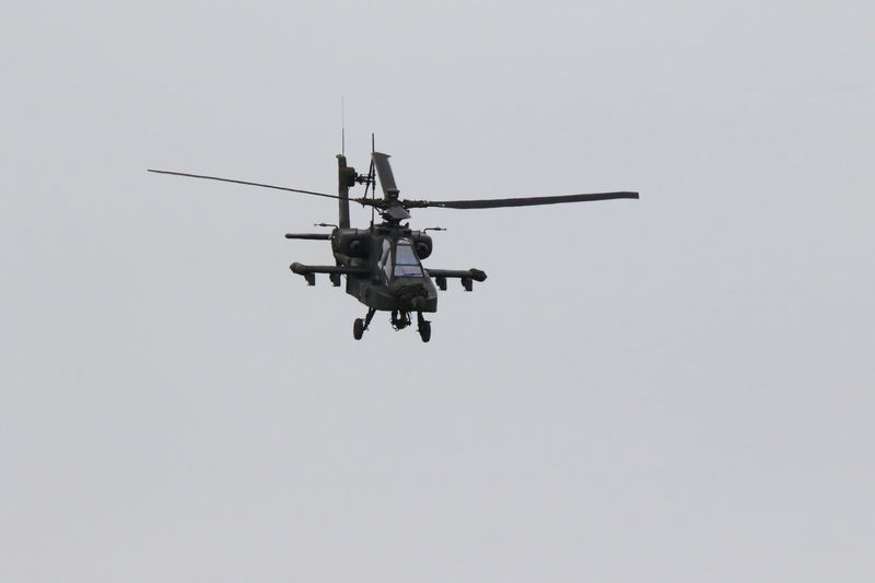Air Vehicle Apache Helicopter Day Helicopter Journey Low Angle View Mid-air Military Airplane Mode Of Transport Nature No People Outdoors Sky Transportation