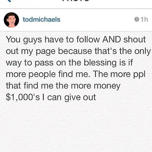 Big ups to @todmichaels Powerballgiveaway