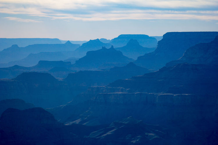 Grand Canyon Grand Canyon National Park Beauty In Nature Blue Idyllic Landscape Mountain Mountain Peak Mountain Range Nature No People Outdoors Scenics - Nature Tranquil Scene Travel Destinations