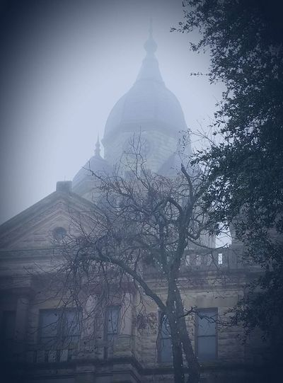 Courthouse Denton County Courthouse Denton, Texas Fog Foggy Foggy Day Foggy Weather No People Outdoors Sky Tree Winter