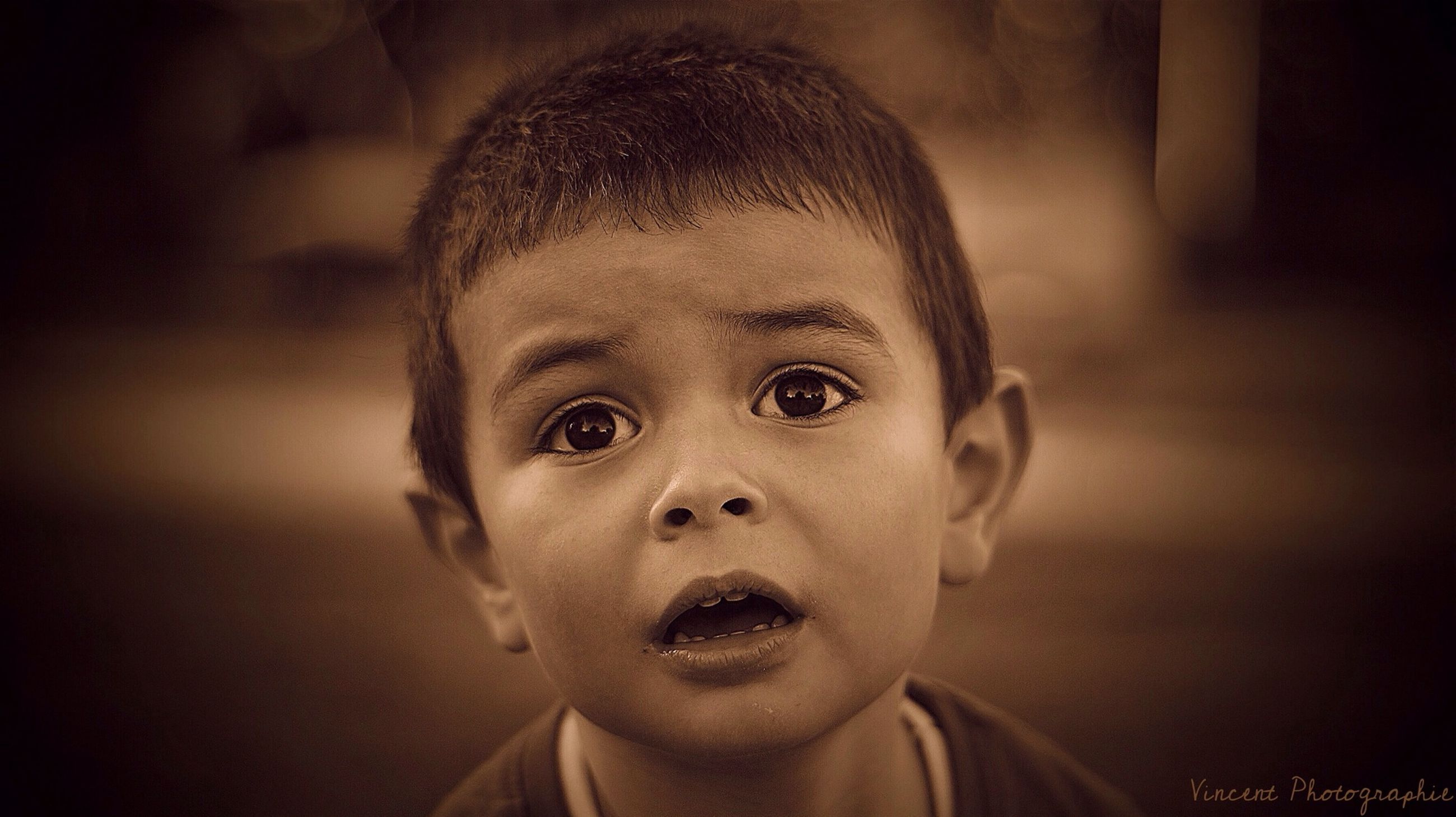 indoors, portrait, looking at camera, close-up, headshot, focus on foreground, childhood, front view, cute, person, innocence, home interior, human face, elementary age, boys, head and shoulders, lifestyles