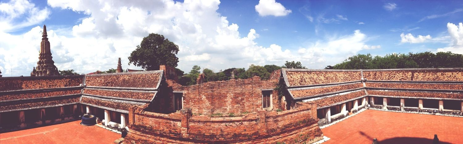 Taking Photos Buddhist Temple Ayutthaya | Thailand Clouds And Sky