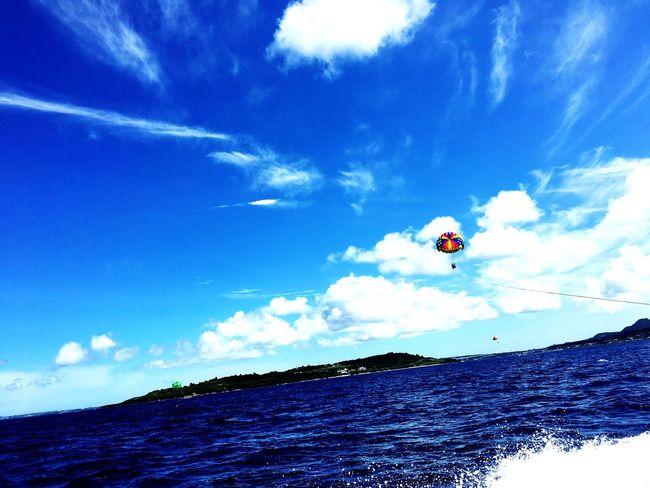 このままどっかひとっ飛び。 Sea Sky パラセーリング Okinawa 写真好き