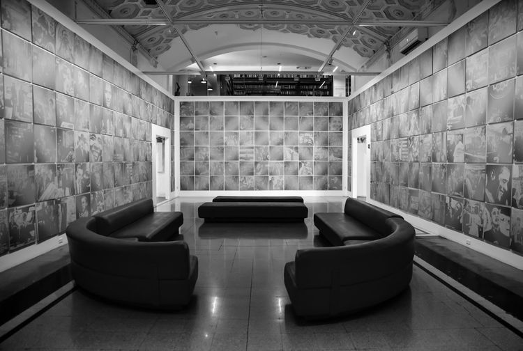 Empty seats in building