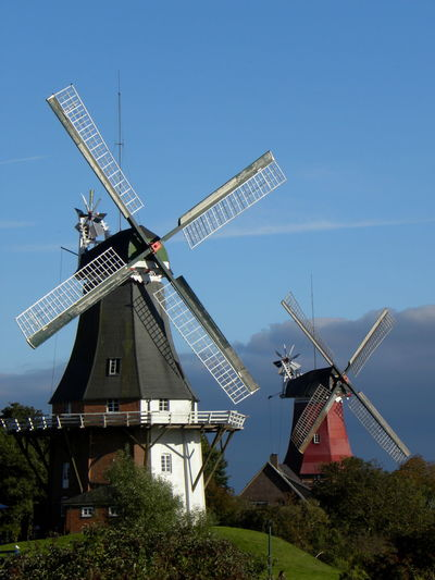 Sky Traditional Windmill Architecture Built Structure Landscape No People Outdoors Environment