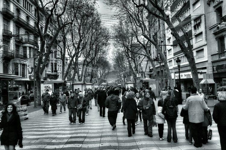 Streetphotography Black And White Photography Laramblas Barcelona Coldandfrosty TheWeekOnEyeEM