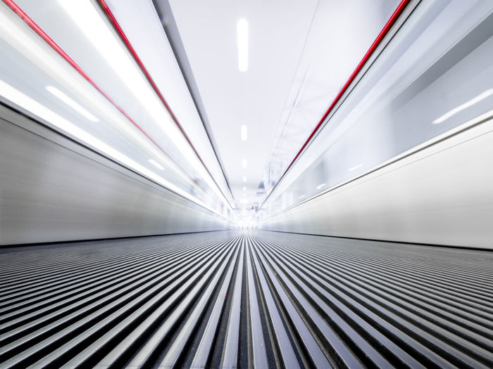 Surface Level Of Modern Moving Walkway