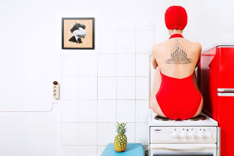 Beloved red Rear View Domestic Room Indoors  One Person Day Fashion Fashion&love&beauty Fashion Photography Bathing Suit  Kitchen Kitchen Stories Portrait Photography Editorial Fashion Editorial  Colorful Colour Of Life Color Portrait Back Portrait Of A Woman Goodfeelography Rethink Things