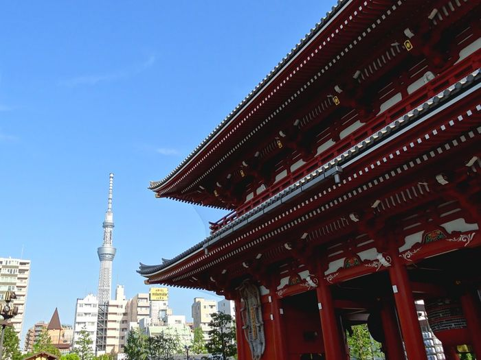 Old And New Old Architecture Modern Architecture Tokyo Sky Tree Sensoji Temple Culture Day First Eyeem Photo in Asakusa Tokyo Japan