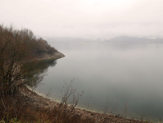 Lago Del Turano Loneliness Fog Lake Landscape Mist Scenics Tranquility Travel Destinations Water