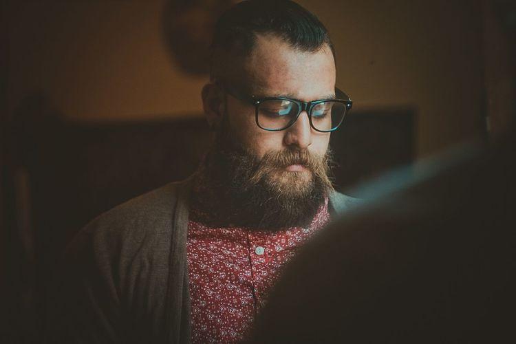 Close-Up Of Man In Eyeglasses